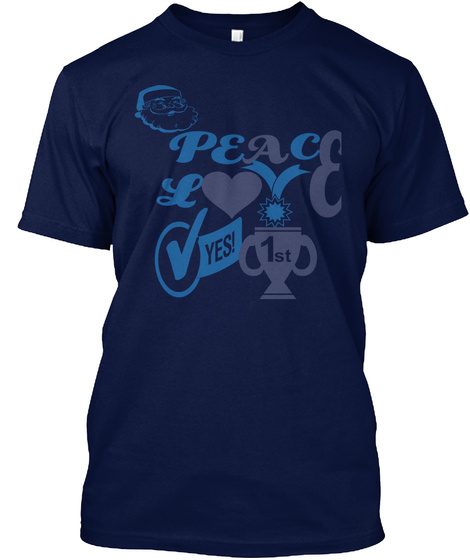 e14504fd Christmas T Shirts For Family - peace love yes 1st Products from ...