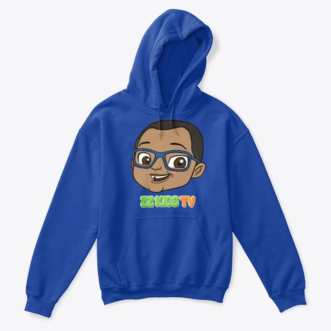 Zz Kid Hoodie Royal T-Shirt Front