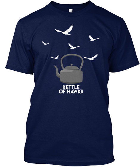 Kettle Of Hawks Navy T-Shirt Front
