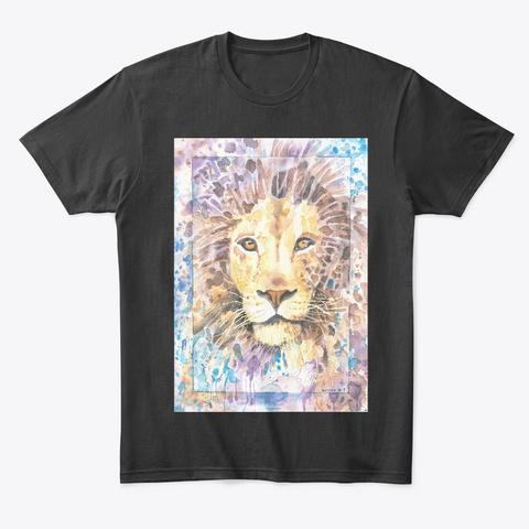 Bonny Hut Originals   Lion Black T-Shirt Front
