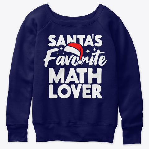 Santas Favorite Math Family Couple Group Navy  T-Shirt Front