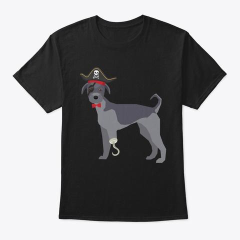 Irish Wolfhound Pirate   Pi Day 2019 Black T-Shirt Front