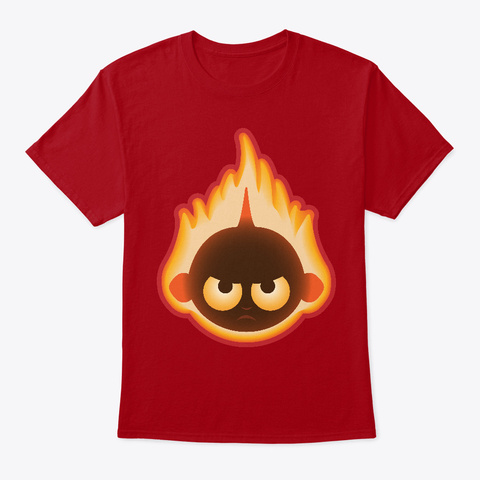 Flaming Jack Deep Red T-Shirt Front
