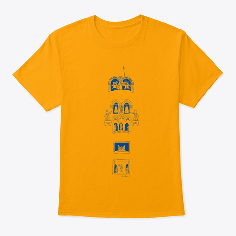 Messina Duomo Clocktower Gold T-Shirt Front