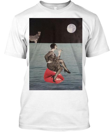 K Kristeva Arty Fashion White T-Shirt Front