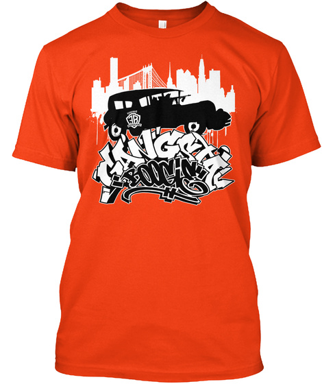 Gangstar Booming Deep Orange  T-Shirt Front