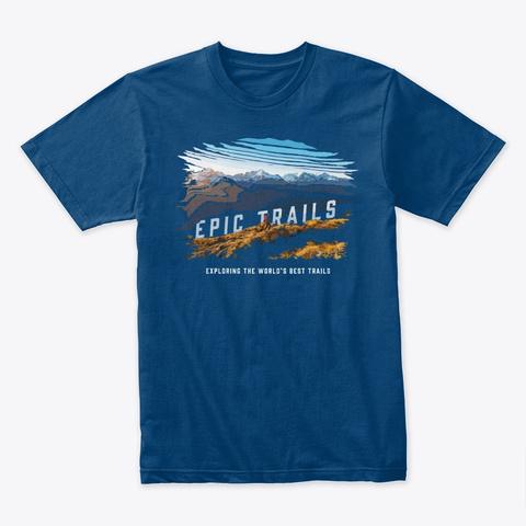 Epic Trails   Routeburn Cool Blue T-Shirt Front