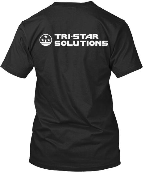 Tri Star Solutions Black T-Shirt Back