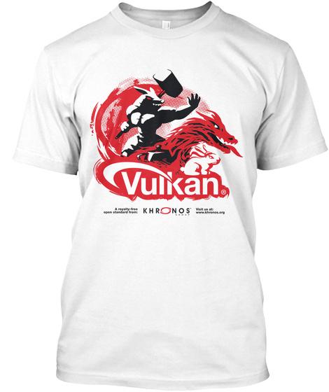 Vulkan Khrons White T-Shirt Front