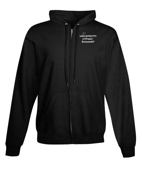 ♫♪ UncleMilty's 1stStreet BayonneNj Black T-Shirt Front