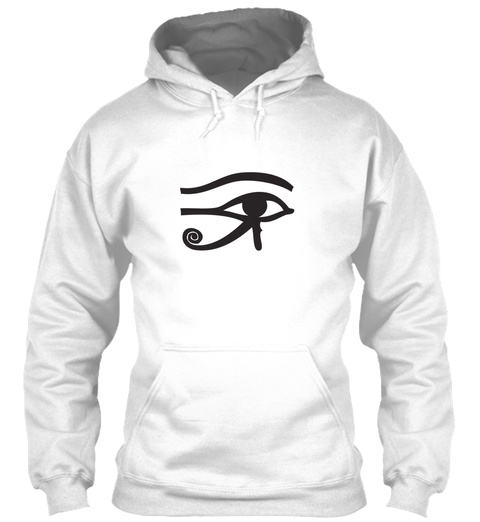 Egyptian Eye Of Rah Hoodie White T-Shirt Front