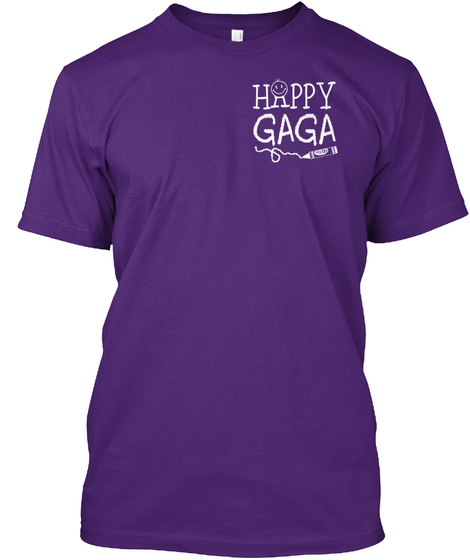 Happy Gaga Purple T-Shirt Front