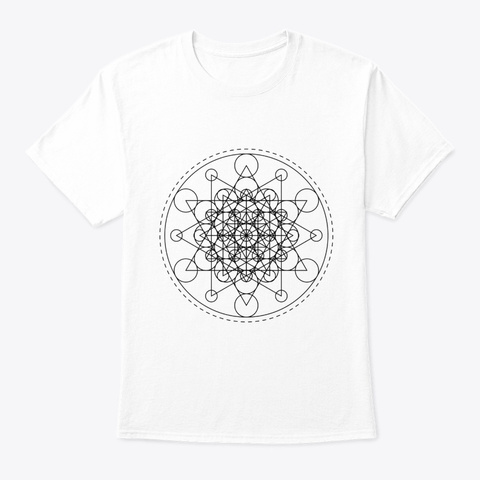 Sacred Geometry Super Star Black White T-Shirt Front