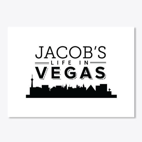 Jacobslifein Vegas White T-Shirt Front