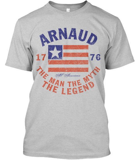 Arnaud American Man Myth Legend Light Steel T-Shirt Front