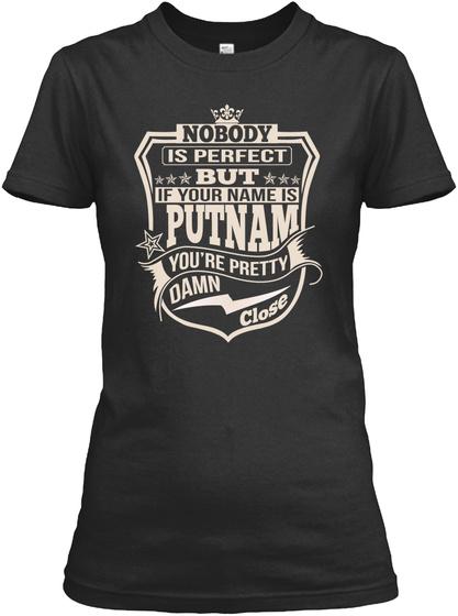 Nobody Perfect Putnam Thing Shirts Black T-Shirt Front