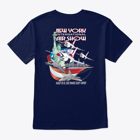 2020 New York Int'l Air Show T Shirt 2 Navy T-Shirt Back