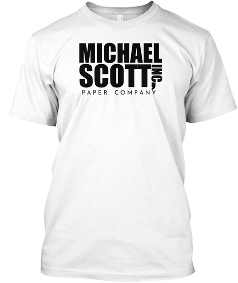 Michael Scott, Inc Paper Company White T-Shirt Front