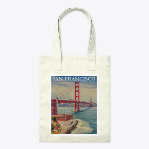 Vintage Fort Point | Tote Bag Natural T-Shirt Front