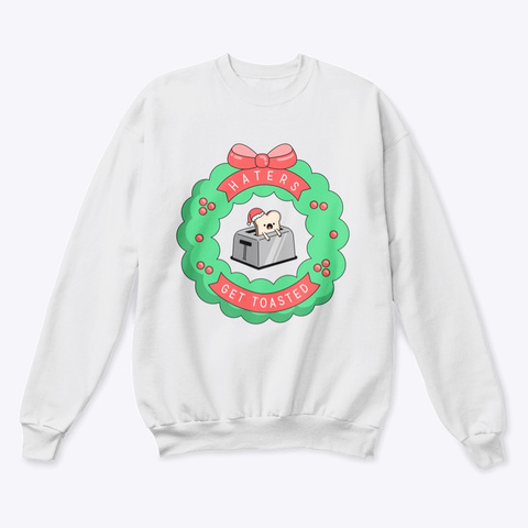 Holiday Toaster Adult White  T-Shirt Front