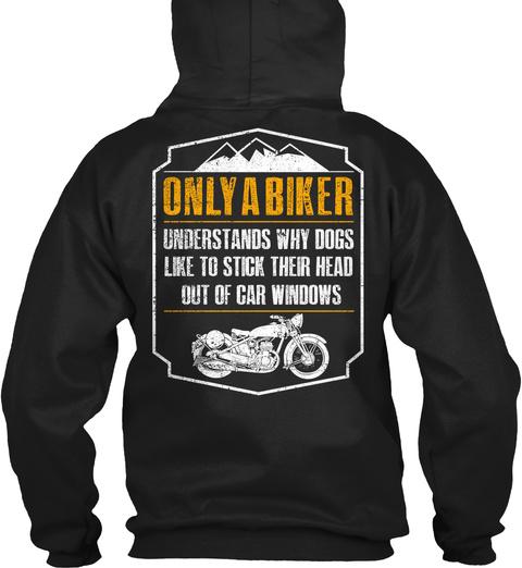 Only A Biker Understands Motorcycle Tee! Black T-Shirt Back