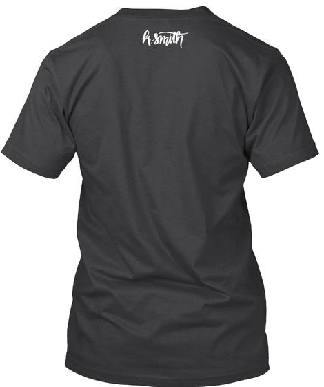 K Smith Dark Grey Heather T-Shirt Back