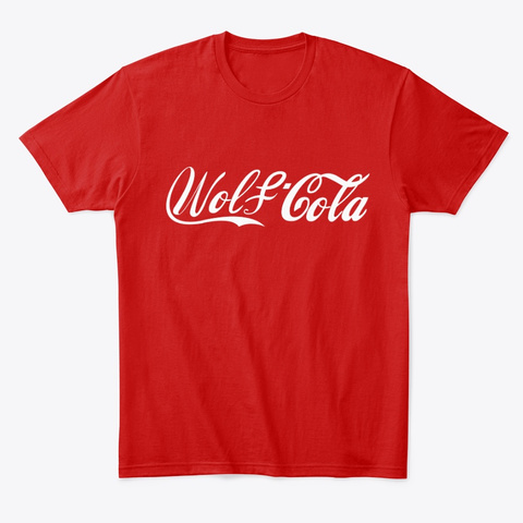 Wolf Cola Classic Red T-Shirt Front