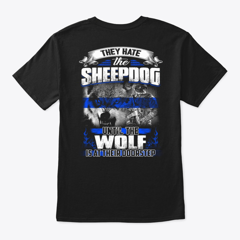 Police   Wolf Black T-Shirt Back