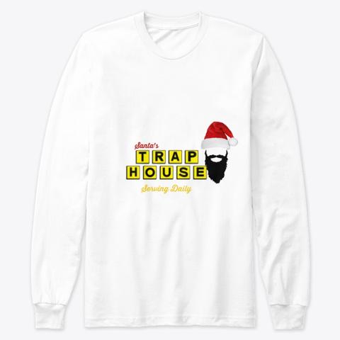 Trap House Santa White T-Shirt Front