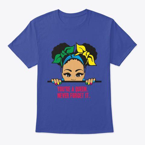Never Forget Deep Royal T-Shirt Front