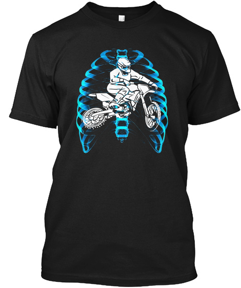 Motocross X Ray Black T-Shirt Front