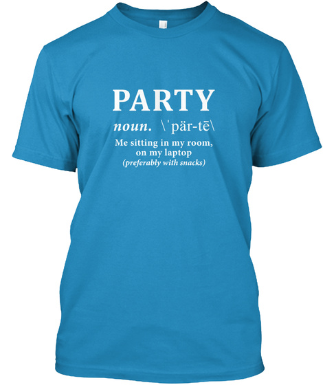 Party Sapphire T-Shirt Front