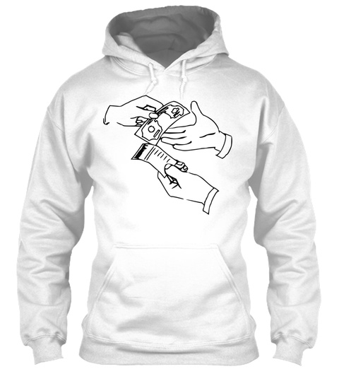 Clip Art White T-Shirt Front