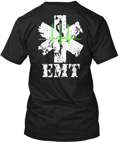 Emt Emt Black Maglietta Back