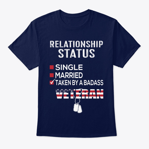 Awesome Veteran Relationship T Shirts!  Navy T-Shirt Front