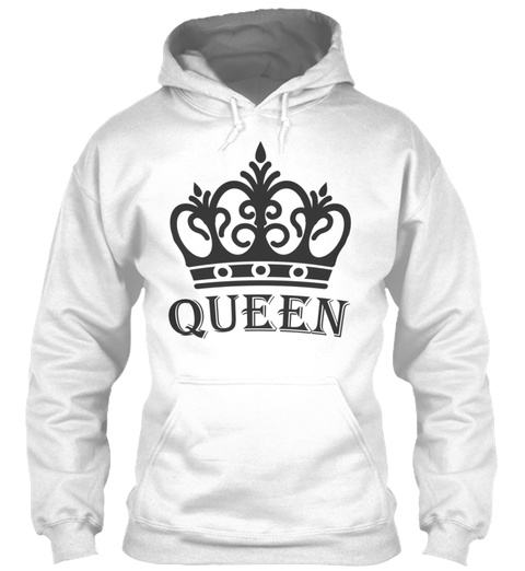 King And Queen Couples 1 White T-Shirt Front
