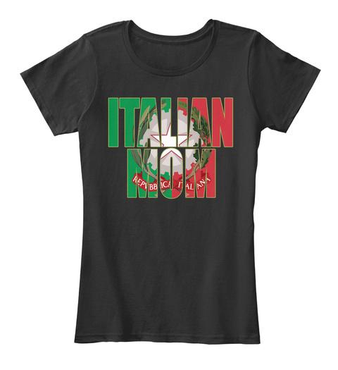 Italian Mom Shirt Black T-Shirt Front