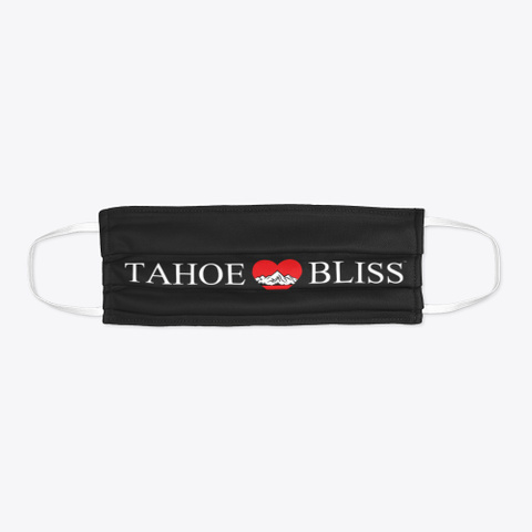 Tahoe Bliss Collection Black T-Shirt Flat