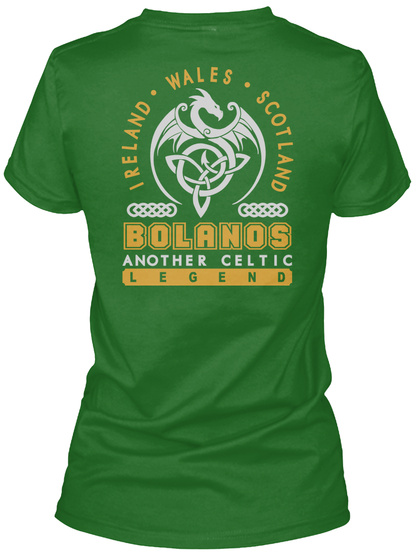 Bolanos Another Celtic Thing Shirts Irish Green T-Shirt Back