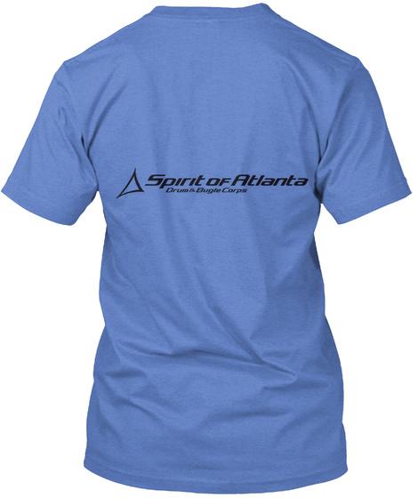 Spirit Of Atlanta Drum & Bugle Corps Heathered Royal  T-Shirt Back
