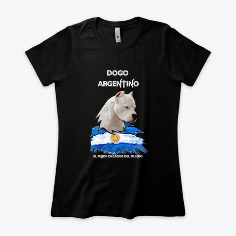 Colección Dogo Argentino 🐕 ✔️ Black T-Shirt Front