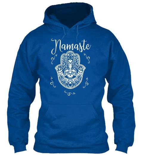 Namaste Yoga Hamsa Royal T-Shirt Front