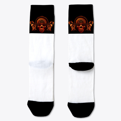 Cranium Socks White T-Shirt Front