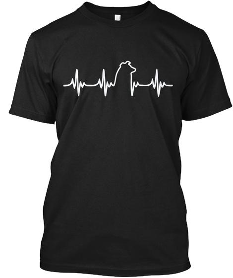 Ltd Edition   Australian Shepherd Heart Black T-Shirt Front