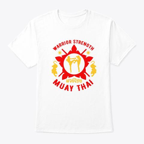 Tigar Muay Thai Mma Retro Warrior Mma Tr White T-Shirt Front