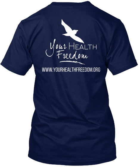 Your Health Freedom Fundraising Navy T-Shirt Back