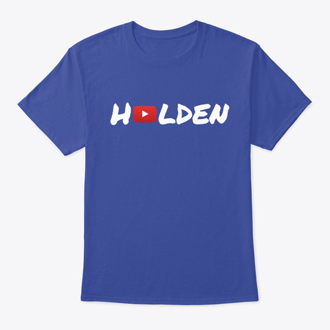 Holden's You Tube Shirt Deep Royal T-Shirt Front