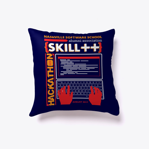 Nss Alumni Hackathon Pillow Dark Navy T-Shirt Front