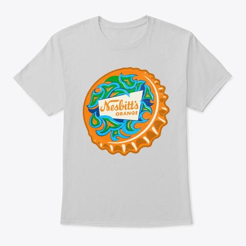 Vintage Nesbitts Orange Soda Bottle Cap Light Steel T-Shirt Front