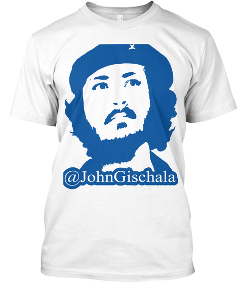 Support For The Gischala You Tube Channel White T-Shirt Front